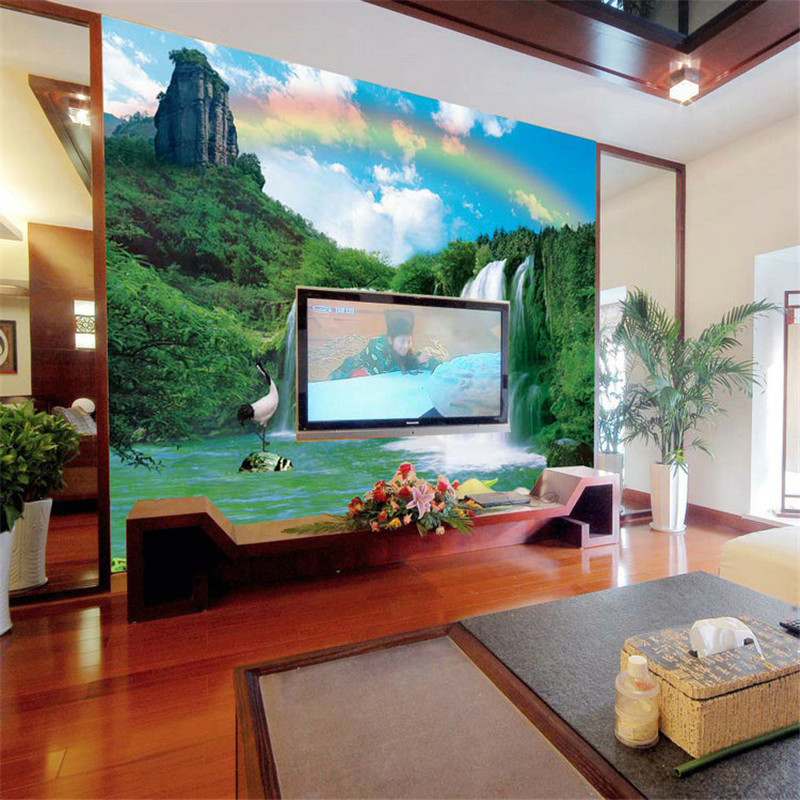 living mural mountain landscape bedroom waterfall specials sofa painting