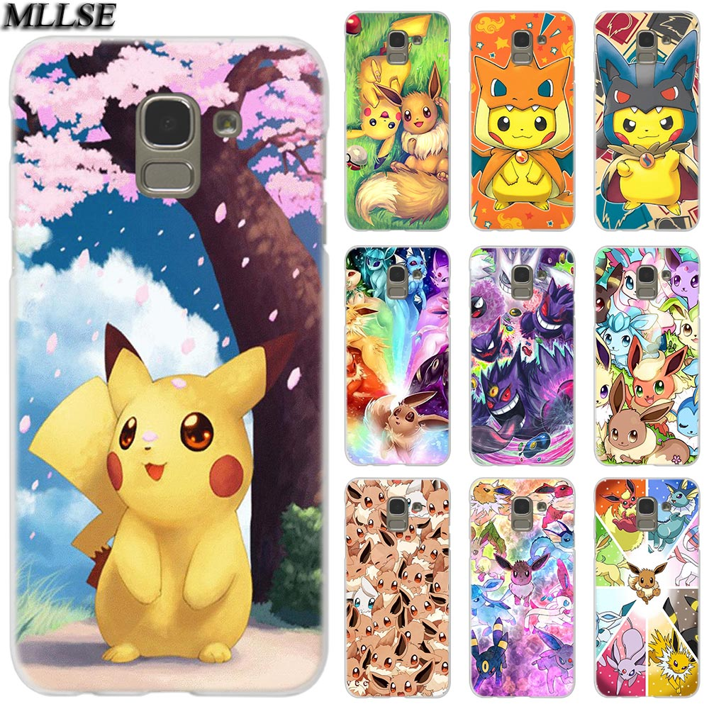 MLLSE Cartoon pokemons eevee pika Case Cover for Samsung Galaxy J2 J4 CORE J3 J5 J7 2016 2017 EU J8 J6 2018 J4 Plus J7 Prime Hot image