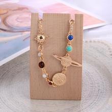 New Colorful Bracelets for Women Planet Cosmic Elements Vintage Patterns INS Wind Bracelet Jewelry Gift