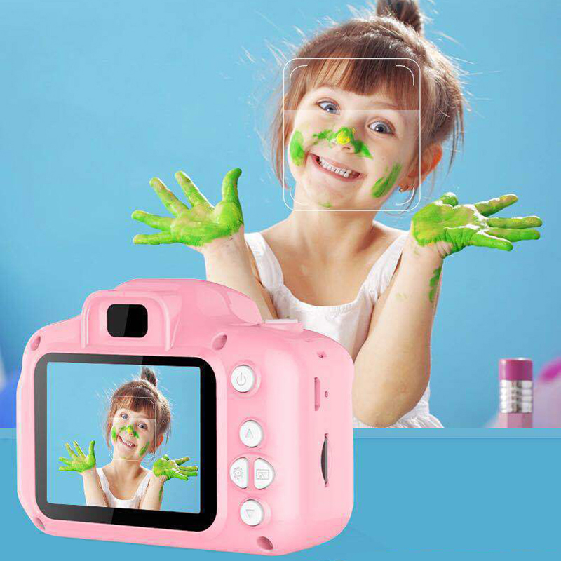 Kids Mini Digital Camera Educational Toys For Children Baby Birthday Gift 1080P 2 Inch Projection Video Camera Toy For Girls Boy