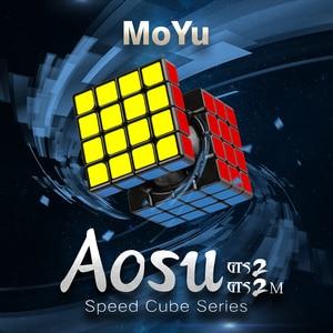 Image 2 - Moyu aosu gts2 m 4x4x4 Cube GTS V2 4x4 Magnetic Magic Puzzle Professional Aosu GTS 2 M Speed Cubo Magico giocattoli educativi per bambini