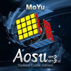 Nuovo Aosu GTS2M MoYu GTS2 4x4x4 Cubo e V2 4x4 Cubo Magnetico Di Puzzle Professionale aosu GTS 2 M Velocità Cubo Educativi Per Bambini Giocattoli