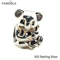 925 Sterling Zilveren Sieraden Mooie Koala Voor Vrouwen Authentieke Originele Fashion Bedels Kralen Past Fandola Armbanden CKK