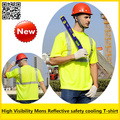 Mens Summer  High visibility reflective safety short sleeve birdeye T-shirt breathable reflective shirt free shipping