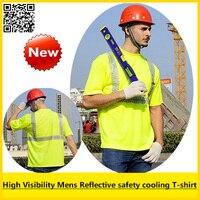 Mens Summer High Visibility Reflective Safety Short Sleeve Birdeye T Shirt Breathable Reflective Shirt Free Shipping