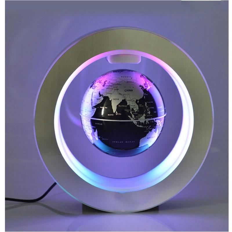 Magnetic Levitation Novelty Round LED World Map Globe Lamp Luminous Rotation Display Antigravity MagicDec Plasma Ball Light (2)