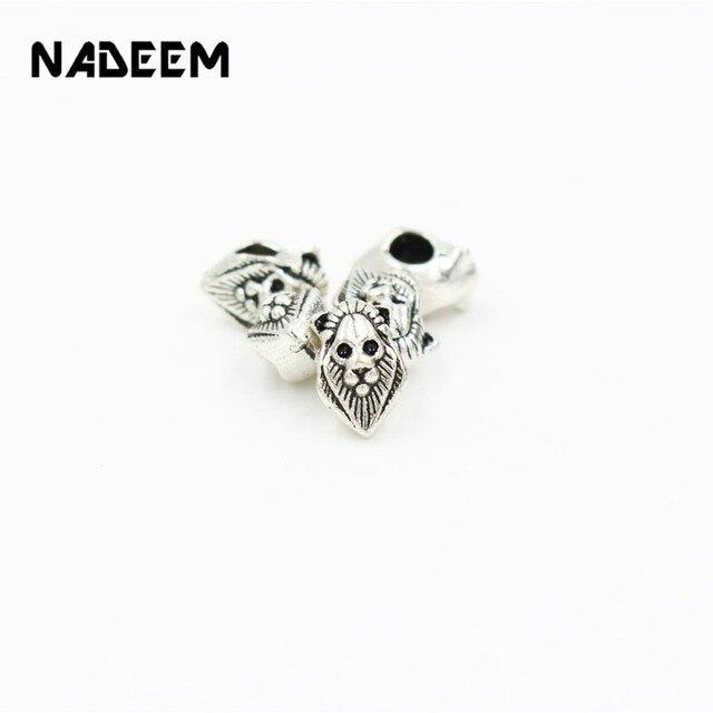 Nadeem 10pcslot Antique Silver Color Tibetan Egyptian Lion Head