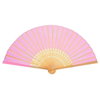 12 pieces Handmade bamboo silk fans Foldable fans Hand folded fan for church wedding gift, Gifts, DIY Decoration, Pink