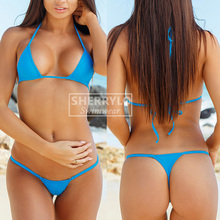 Women's Swimsuit Bikini Mini Micro Bikinis Set Triangle Top