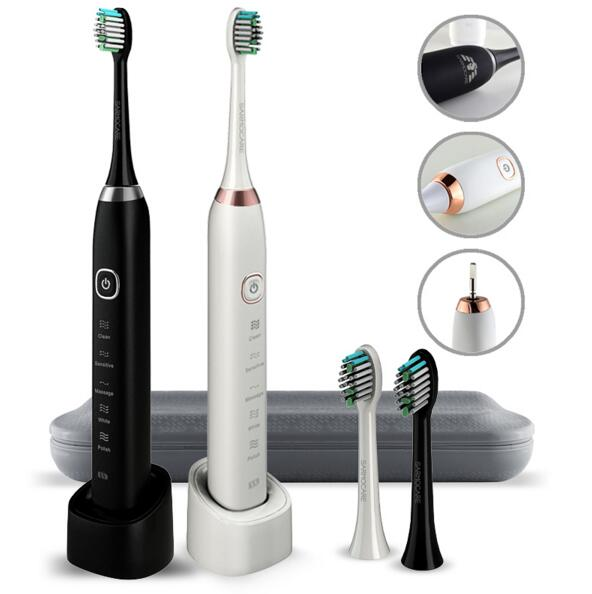S100 Sarmocare S100 Electric Toothbrush 5 Models Wireless Rechargeable With 2Pcs Replaceable Heads Timer IPX7 Waterproof