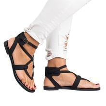 2019 New Summer Women Sandal Cross Toe Double Strap Summer S