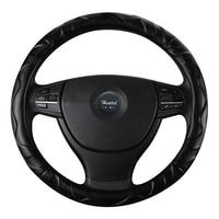 Vlecht op de Stuurhoes 38 CM 15 ''Houder Protector Auto styling funda volante universele Lederen Stuurwiel Cover
