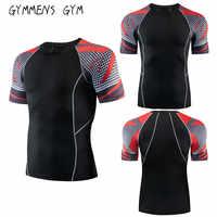 2019 neueste Männer 3D-Druck-Design hochwertige Fitness Kurzarm-T-Hemd Turnhalle schnell trocknendes Hemd Kurzarm-T-Shirt