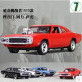 1970 Dodge Chargers R/T de Fast & Furious 1:32 modelo de Coche Para Niños juguete Diecast tire volver luz sonido Mustang Challenger regalo coche deportivo