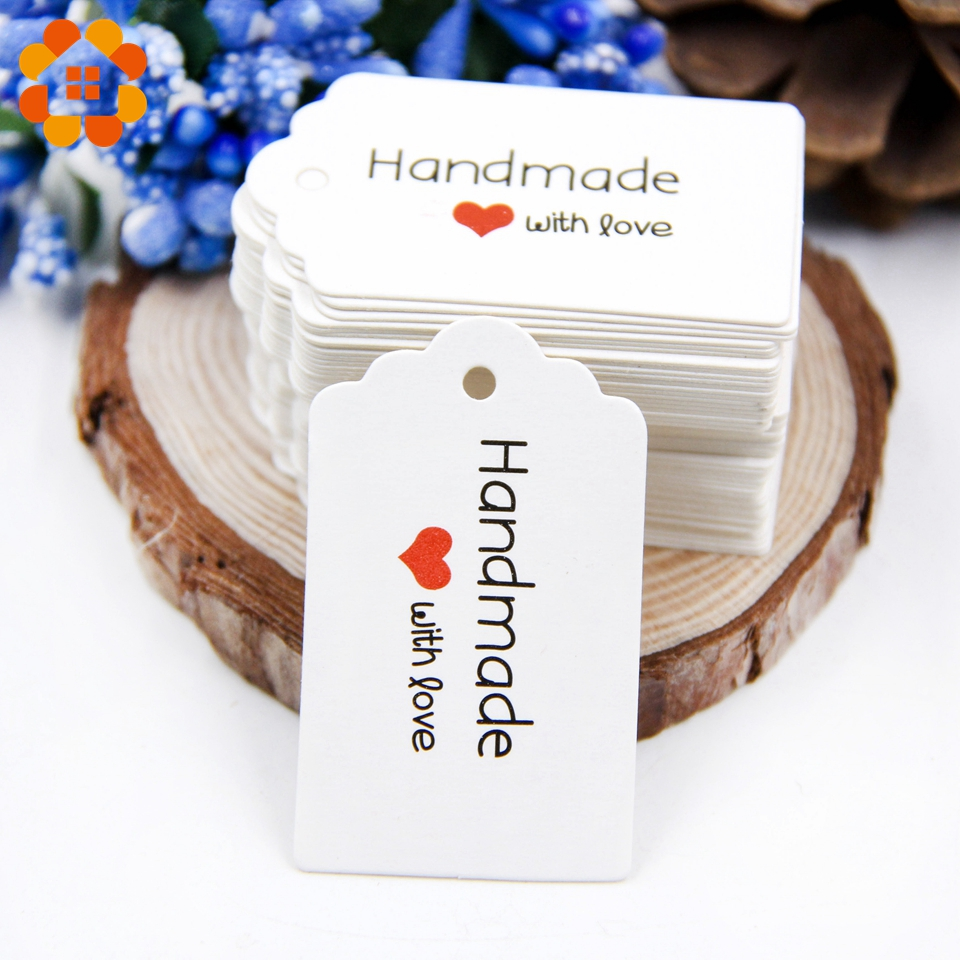 100pcs 2 colors DIY Kraft Paper Tags Paper Labels For Christmas ...