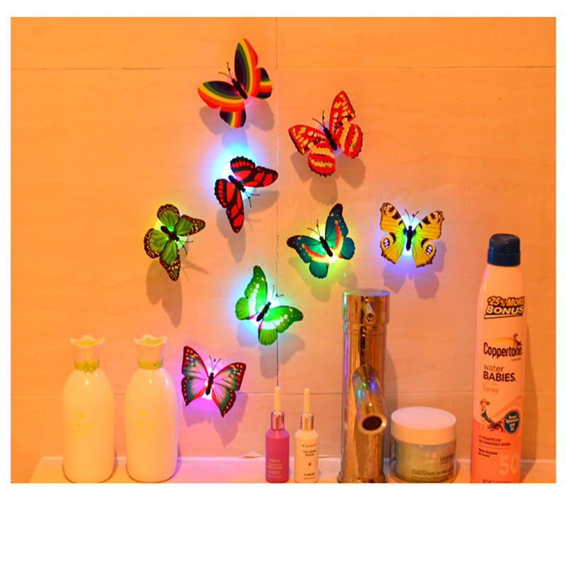 Jiaderui 1pcs Lovely Butterfly LED Lights Indoor Wall Lights Home Lights Color Changing Lights Home Decor Color Random On Sale