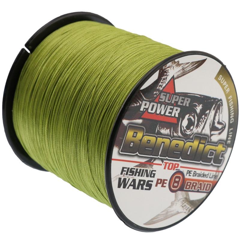 Супер сильний Плетений волосінь 8 ниток, як в морській воді і freashwater армії, зелена риба коса 500 М риболовні нитки 6-300LB  t