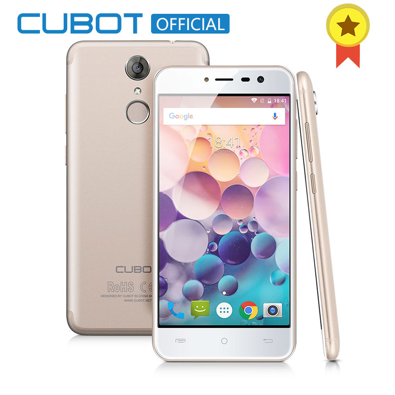 Original Cubot Note Plus 3GB RAM 32GB ROM Android 7.0 5.2 FHD Smartphone 16MP 2800 mAh MT6737T Quad Core Fingerprint Telephone