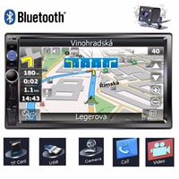 7 Touch Screen Car Multimedia Player 2 Din Car Radio GPS Navigation Autoradio Bluetooth USB AUX Auto Stereo Car DVD MP5 Player