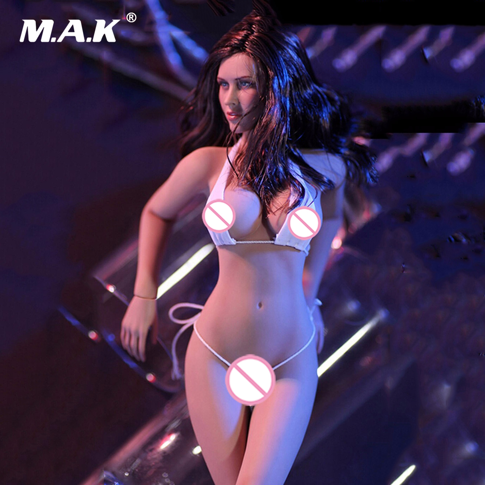 1/6 Scale Female Sexy Figure Super Flexible Seamless with Steel Skeleton Body Head Tan Color 12 Action Figure for Collections ...