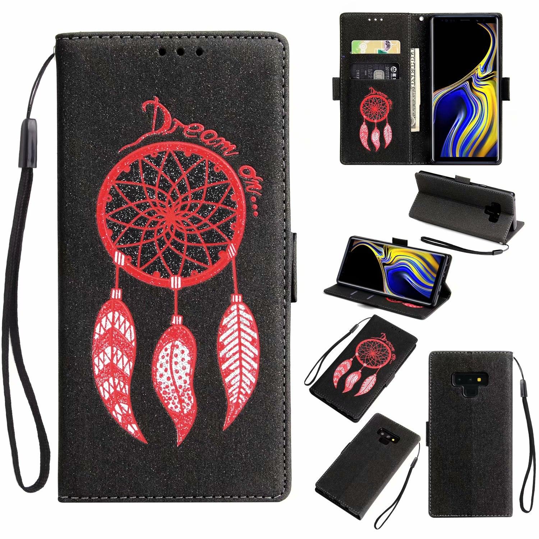 Windspiele Flip Leder Abdeckung Für Samsung Galaxy Note 9 8 S9 S8 Plus S7 S6 Rand Iphone X Xr Xs Max 8 7 6 Brieftasche Fall Stehen Karte
