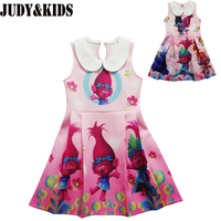 Trolls Children Clothes Kid Girls Dress Teenage Party Princess Dresses New Brand Designer Cartoon Clothing Trolls
