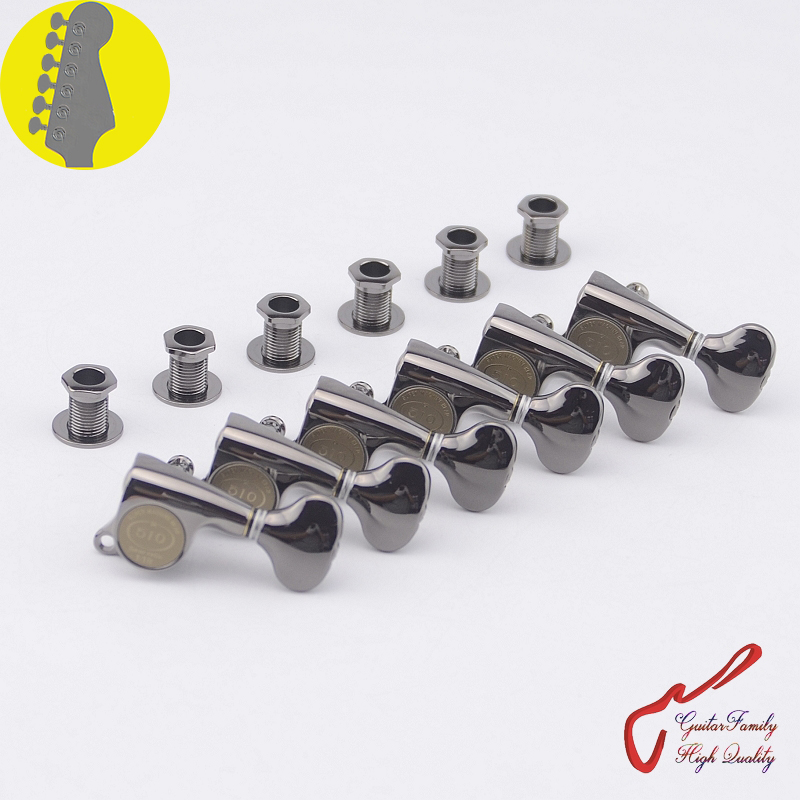 1 Set Original Genuine 6 In-line GOTOH SGS510Z-S5 Guitar Machine Heads Tuners ( Cosmo Black ) MADE IN JAPAN wilkinson deluxe wj55s 6 in line machine heads tuners black new guitar parts