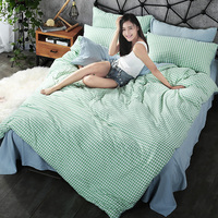 Bedding Sets Custom Size Duvet Cover Set USA Russia Size Bed Set Two Tone Bedclothes White