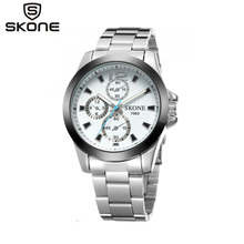 Skone Luxury Brand Mens Watches Women Dial Luminous Watches Ladies Original Japan Quartz Watches Female dress watch Clock cheap 7063 Alloy ROUND 16 9cm 3Bar Hardlex 8 9mm Water Resistant Fashion Casual 18mm Bracelet Clasp No package STAINLESS STEEL