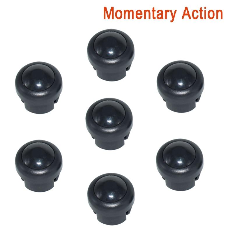 7 x кнопка включения мотоцикла сигнал поворота Высокий Низкий Луч Электрический старт Kill ON OFF кнопки мгновенного действия с фиксацией - Цвет: Black B