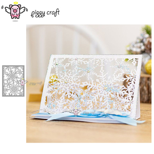 Image 1 - Piggy Ofício do metal de corte morre corte die molde flocos de neve molde faca de lâmina de cartão de papel Do Scrapbook artesanato soco decadente stencils