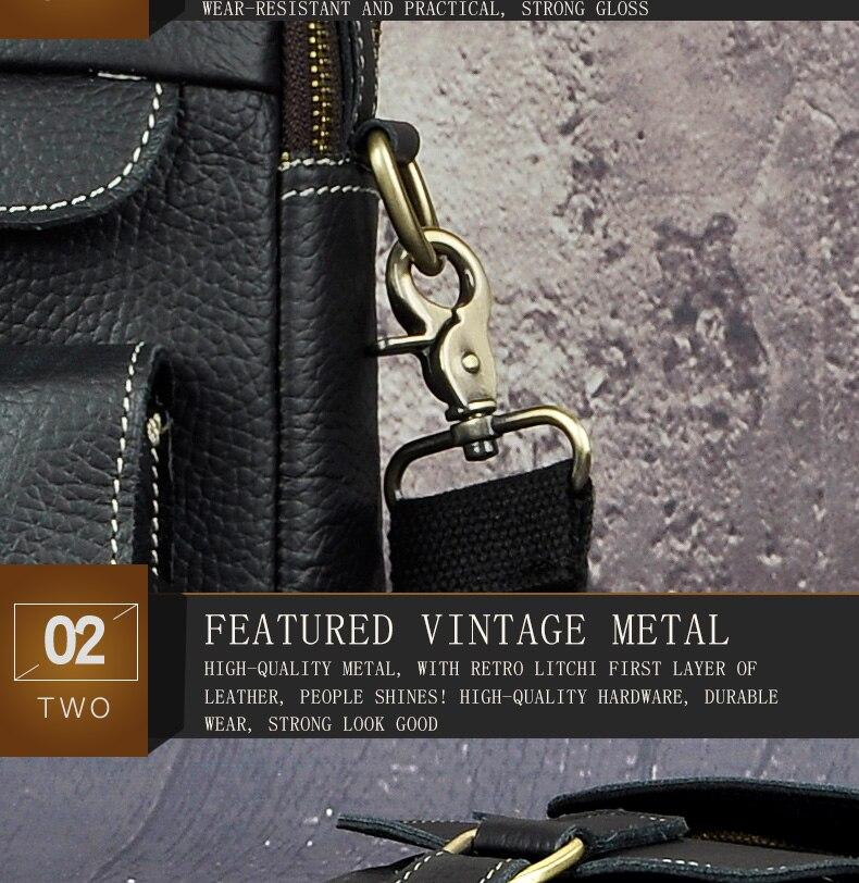 "HTB1Cnnwa5qAXuNjy1Xdq6yYcVXag Le'aokuu Men Real Leather Antique Style Coffee Briefcase Business 13"" Laptop Cases Attache Messenger Bags Portfolio B207-d"