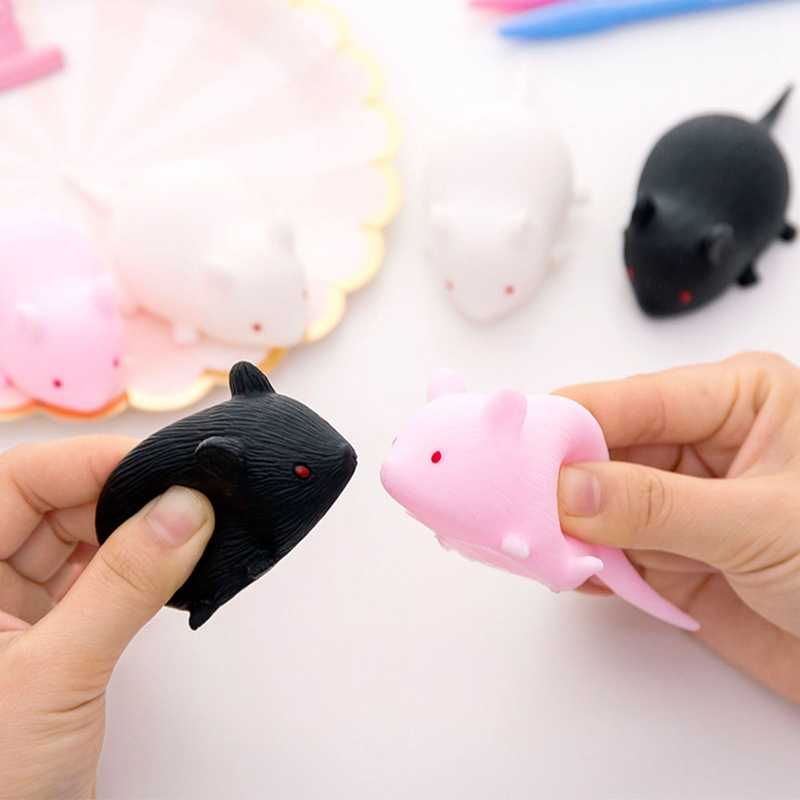 1Pcs Little Mouse Playing Toys Funny Squeeze Chew Toy Simulation Rubber Rat Mouse Mice Toy