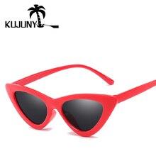 831816e1f8e36 KUJUNY Gato Olho Óculos De Sol Das Mulheres Triângulo Óculos olho de gato  Retro óculos de Sol para o Sexo Feminino