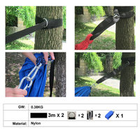 Essential Can Hold 200kg Out Door Camping Hiking Hammock Hanging Belt Hammock Strap Rope With Metal