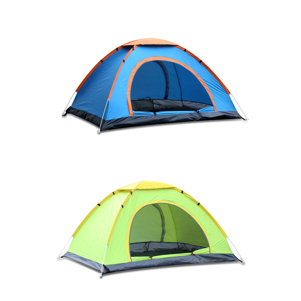 200*150 cm camping en plein air tente tentes carpas de camping Coupe-Vent Instantanée Pop Up Tente Ouverte Grand Espace Plage famille Voyage - 3