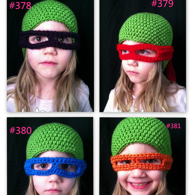 d488b85cca7 Children Girls Knitted Beanie Ninja Turtles Beanie Hat with Long Tail Eye  Glasses for Girls Kids Funny Hat 1-6 Years old