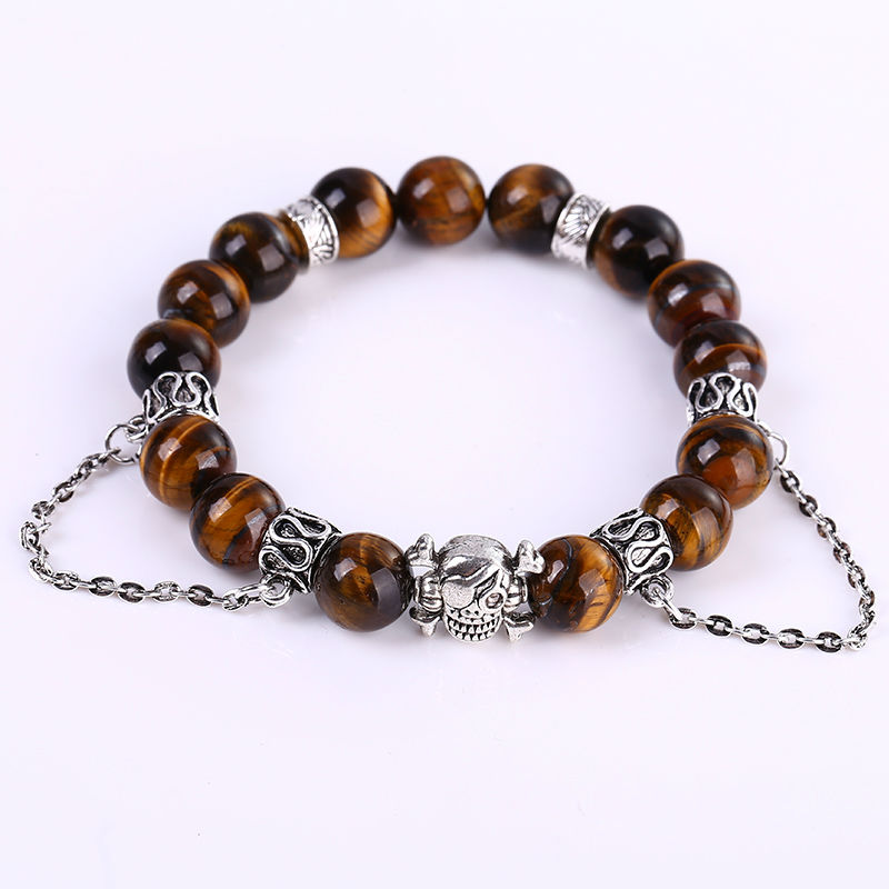New Style Fashion Jewelry Charm Cuff Yellow Tiger Eye Stone Men Bracelets Bangles For Women