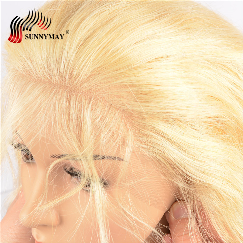 Sunnymay 13x6 Blond Snörning Frontal Closure 613 Färg Brasiliansk - Mänskligt hår (svart) - Foto 2