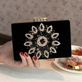The new 2016 Woman bag Hand bag Evening bag Bride package Set auger banquet bag Wedding packages The maid of honor package black