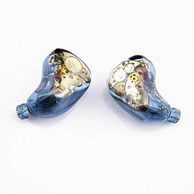 Newest Wooeasy 10BA in Ear Earphone Blue Gear Custom Made Hybrid Around Ear Earphone With MMCX Plated Earphone