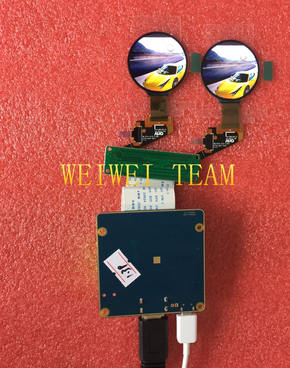 New arrival 400*400 rugged high resolution OLED 1.39 inch round AMOLED LCD display for smart watch/ smart wearable devices
