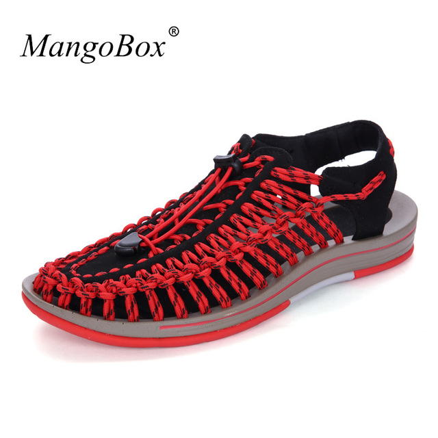 55edf9270 High Quality Sport Sandals Men Cool Mens Summer Walking Sandals Athletic  Rubber Bands Hand-woven Sandals Fishing Shoe For Mens