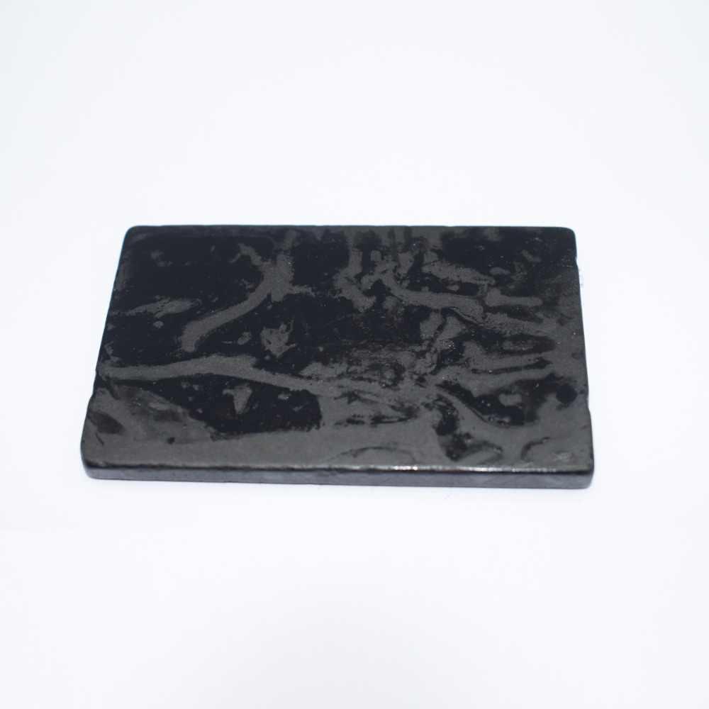 1 pieza negro gris oro prueba de piedra joyería Detección de herramientas de prueba 77x46x7mm