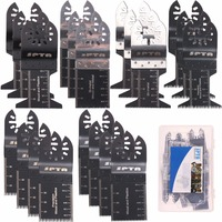 SPTA 20Pcs Metal/wood Oscillating Multitool Quick Release Saw Blades + Plastic Box For Fein Multimaster,Dremel,Bosch,Makita