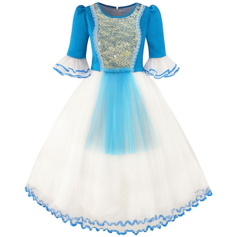 Cartoon Dressing Gown: Aliexpress.com : Buy Sunny Fashion Girls Dress Snow White