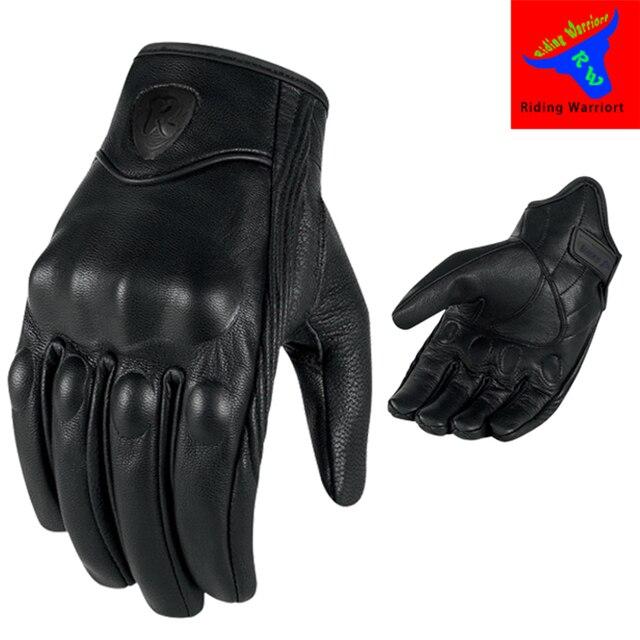 オートバイの手袋タッチスクリーンゴートスキン革リアル本物のサイクリングオールシーズンmotoグローブ男性レーシングバイクguantes luvas
