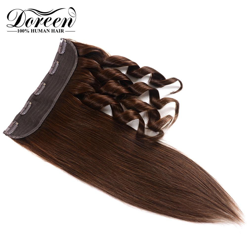 """Effizient Doreen Maschine Made Remy Natürliche Europäischen Haar 1 Stück Clip In Menschliches Haar Extensions Haarteile 16 """"bis 22"""" 5 Clips 1 # 1b #2 #4 #8 # Angenehm Zu Schmecken"""
