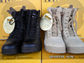 2017 Мужчины Военные Сапоги спецназ тактические пустыни военные ботинки походные ботинки снега сапоги Пехотные специальные кожаные сапоги