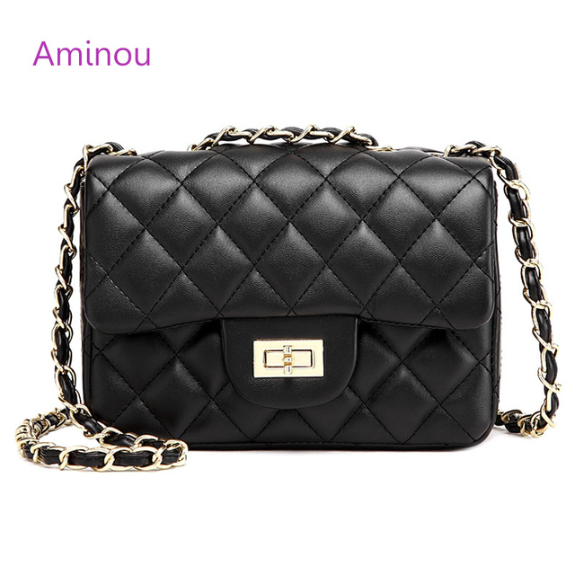 Aminou Small crossbody Flap Bag For Women Shoulder Handbags High Quality Pu  Leather Diamond Lattice Bags Luxury Bolsas Feminina eec72ad7b842